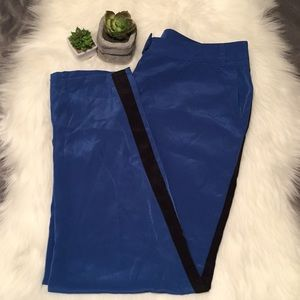 Cobalt Blue and Black Trousers!